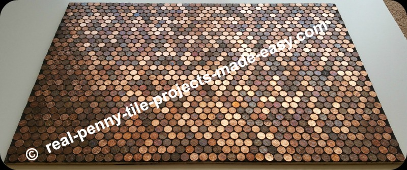 Grouted Pennies As Tile On Sample Floor