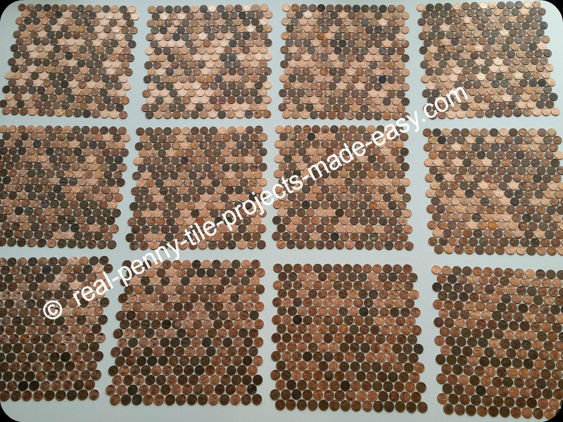 Real Penny Tile Projects Made Easy Tile Sheets Of 224