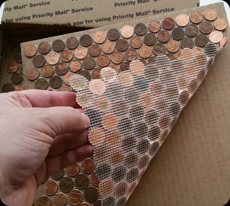 Tile Sheets Made With Pennies The Real Penny Mosaic Tile
