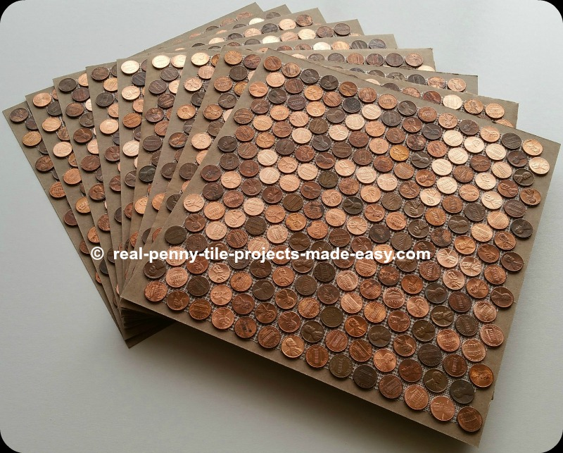 Real Penny Tile Projects Made Easy Tile Sheets Of 224 Pennies Each